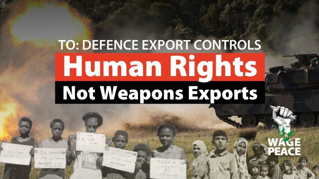 Thank you for signing petition for defence export controls