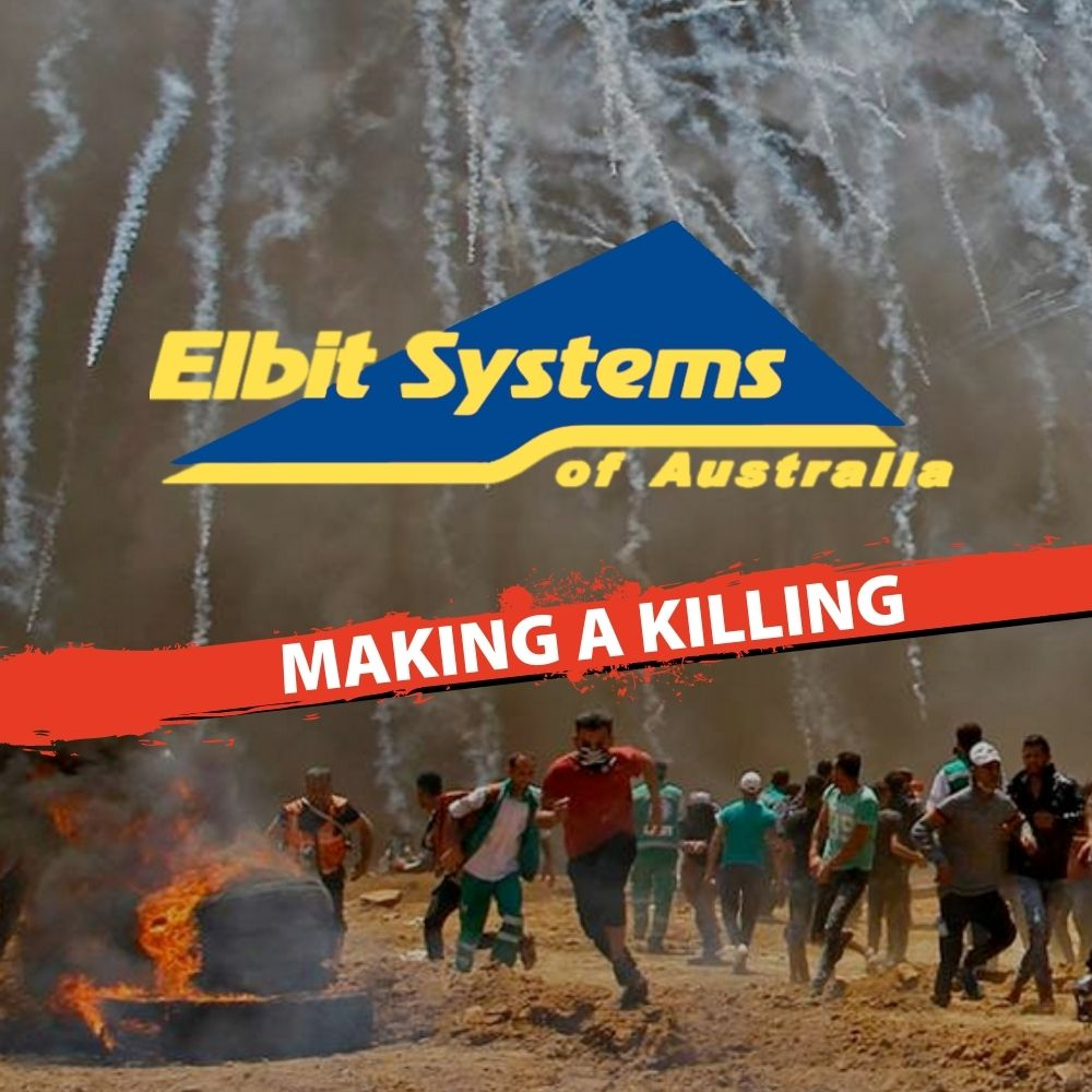 Elbit Systems making a killing - pic of white phosphorous