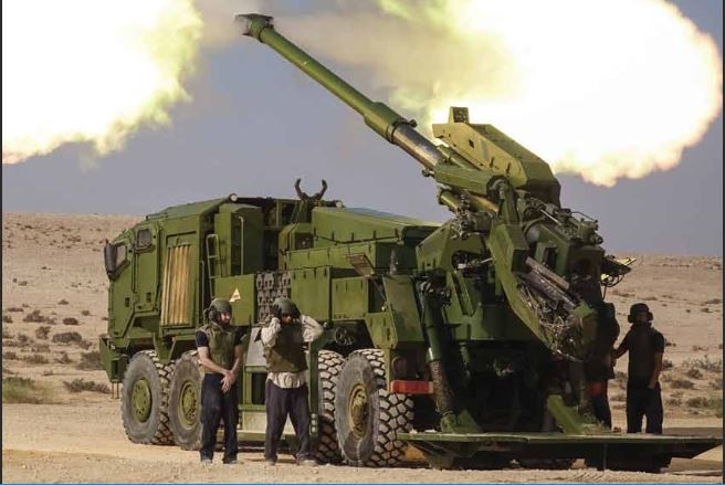 Elbit ATMOS 155mm truck mounted howitzer can fire cluster bombs Israel Palestine