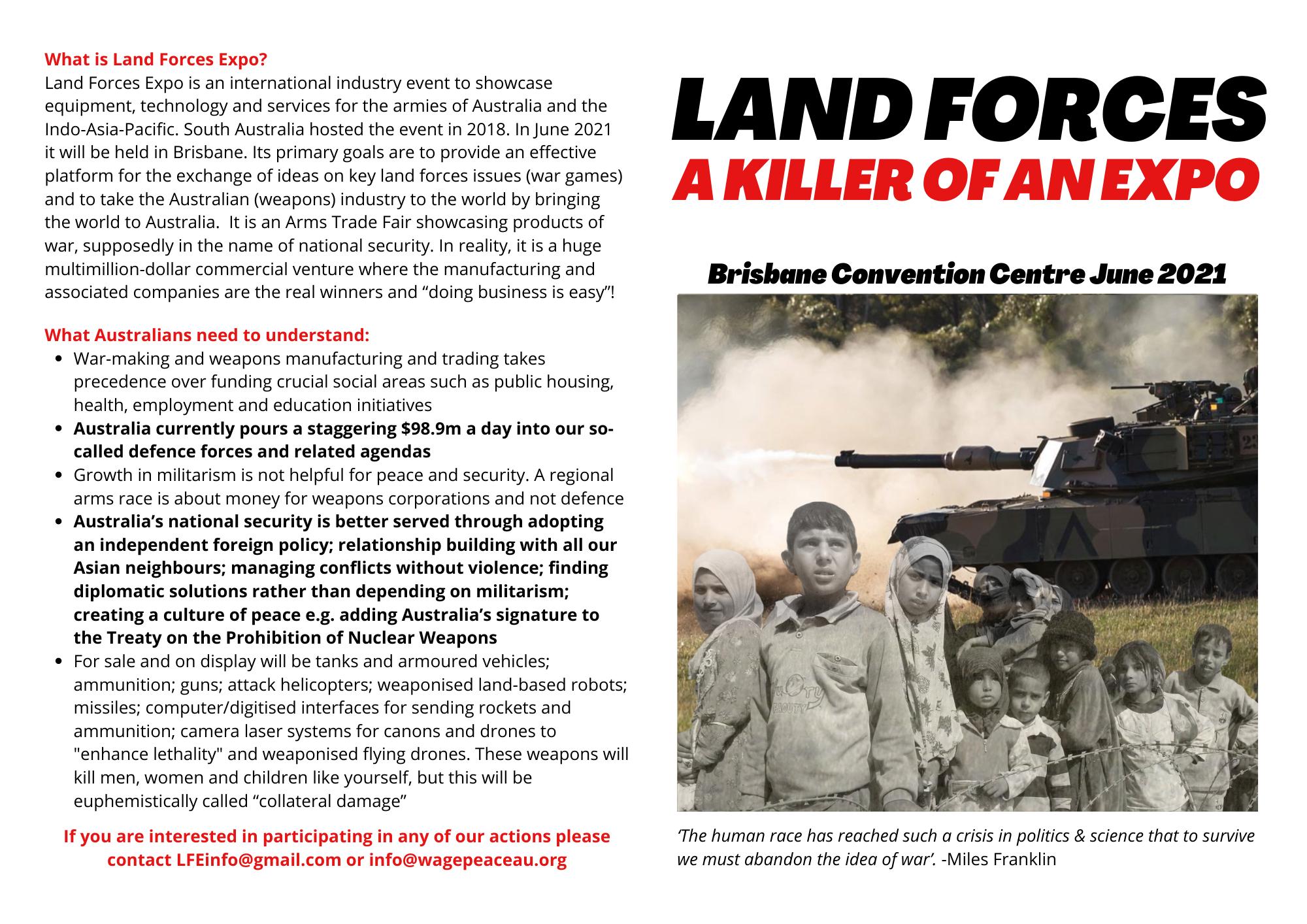 Land forces - killer flyer