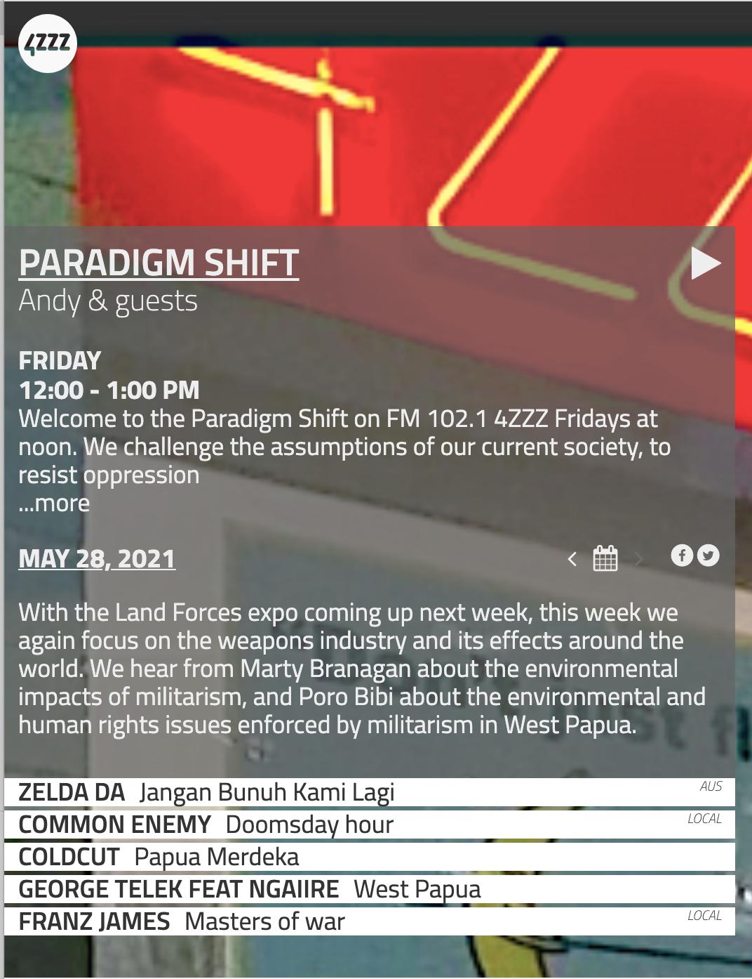 Paradigm shift May 28th