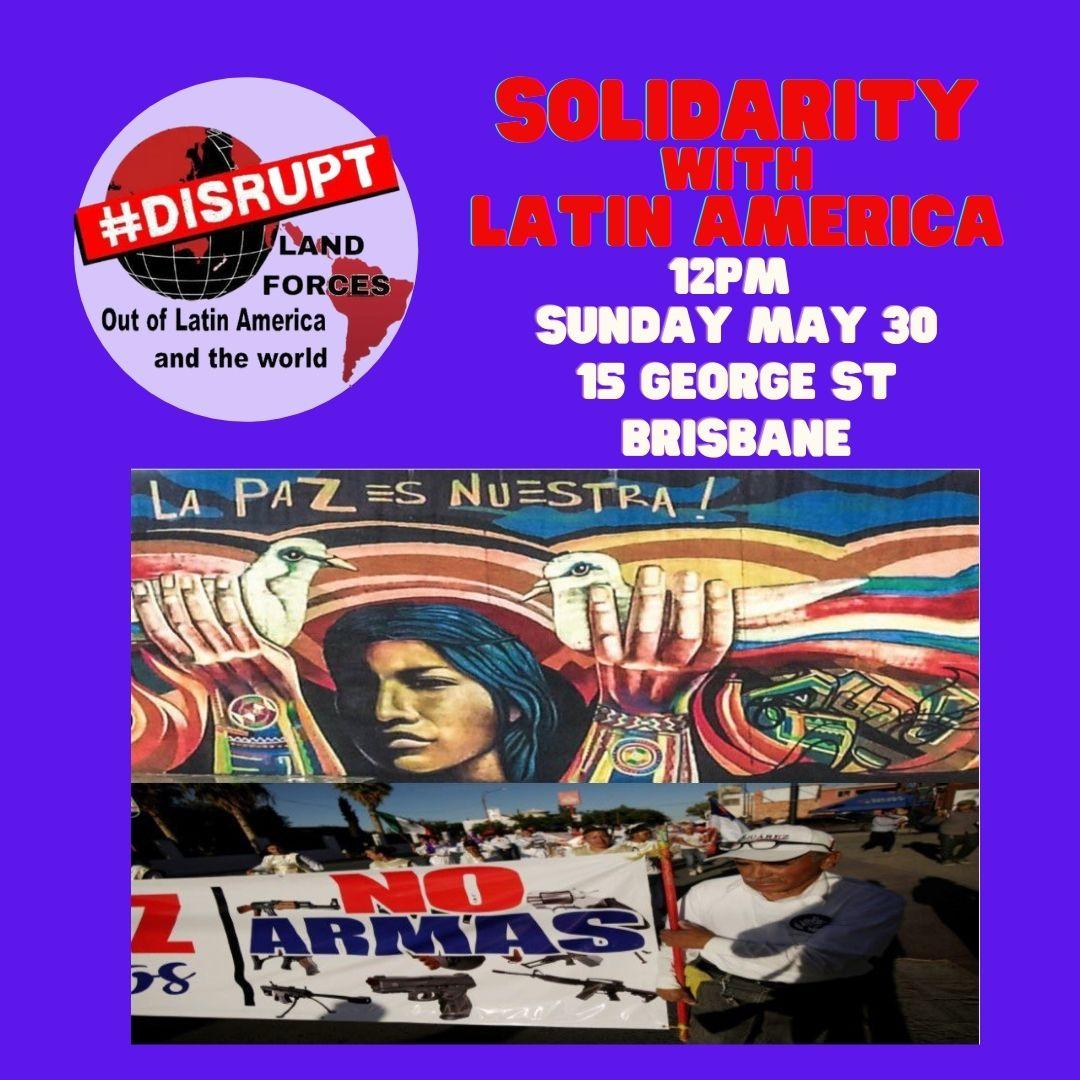 Solidarity with Latin America rally sunday