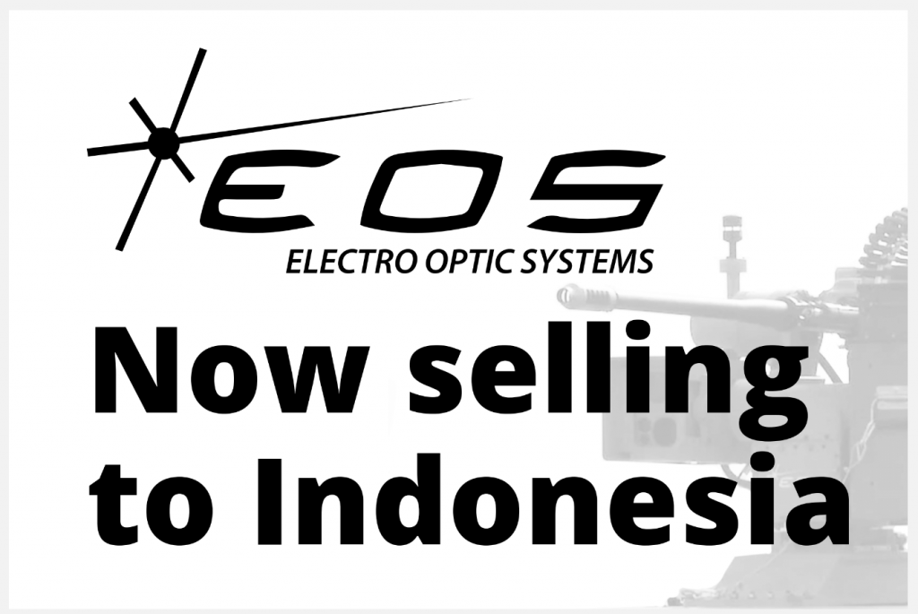 EOS - Now selling to Indonesia placard