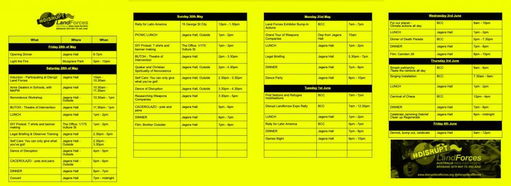 program sample on yellow
