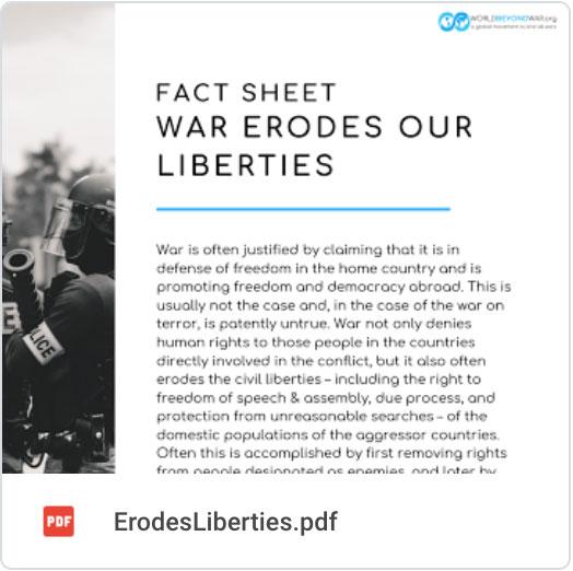 War erodes our liberties